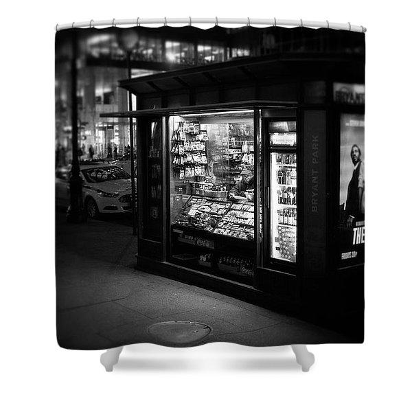 Manhattan Newsstand, 42nd Street Shower Curtain