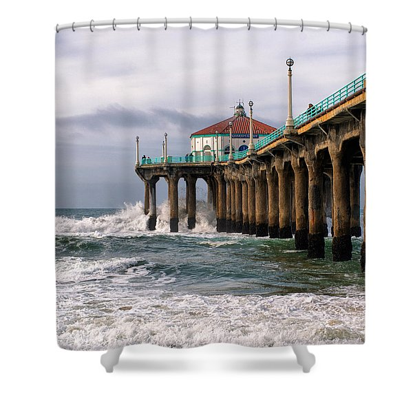 Manhattan Pier Surf Shower Curtain