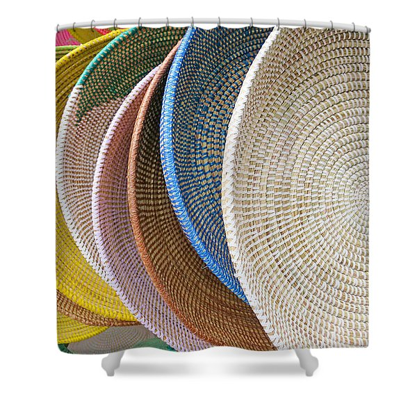 Manhattan Wicker Shower Curtain