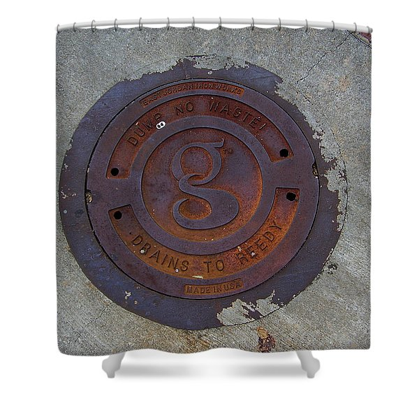 Manhole IIi Shower Curtain