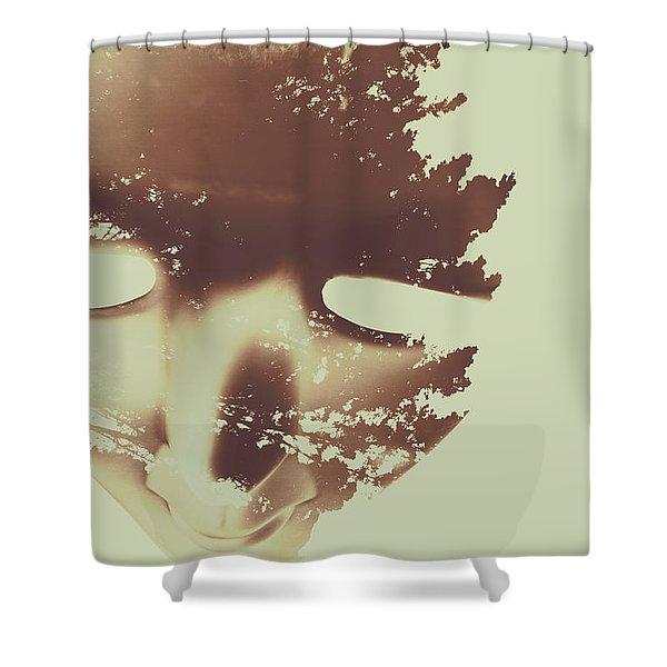 Manifest Destiny Shower Curtain