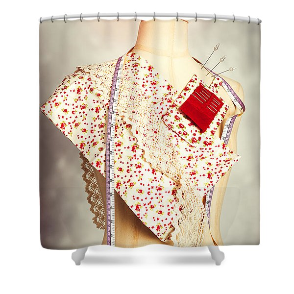 Mannequin With Colour Swatches Shower Curtain
