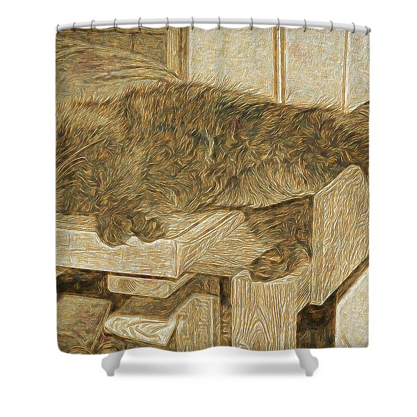 Mannie Is Relaxing Shower Curtain
