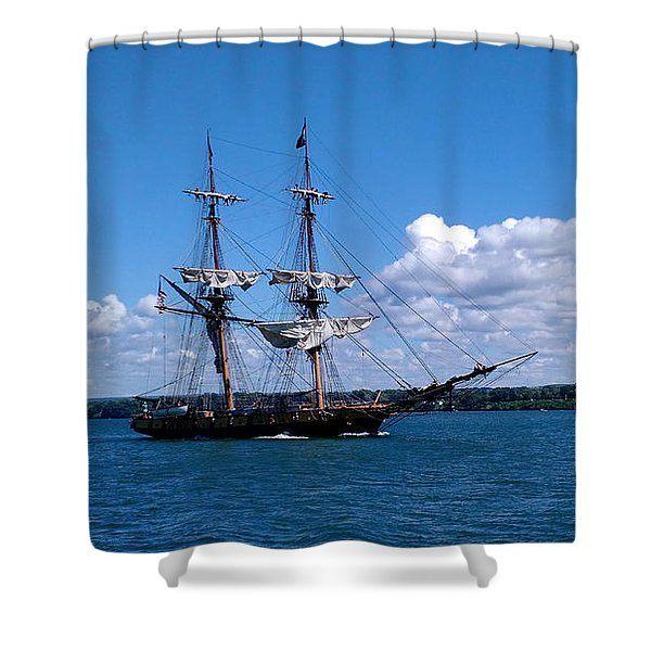 Manning The Sails Shower Curtain