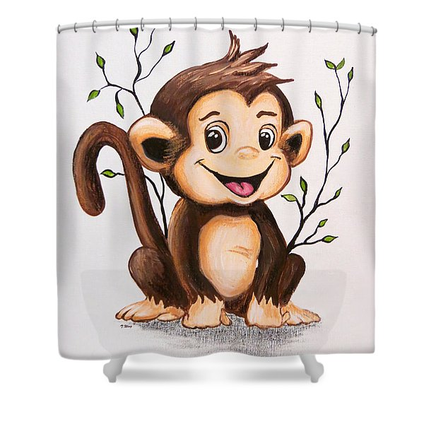 Manny The Monkey Shower Curtain