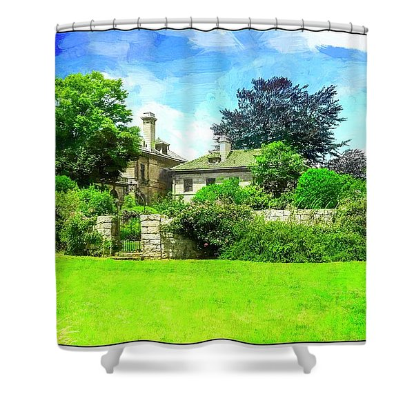 Mansion And Gardens At Harkness Park. Shower Curtain