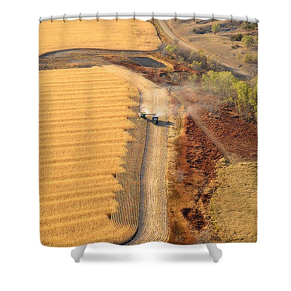 Many Acres To Harvest Shower Curtain