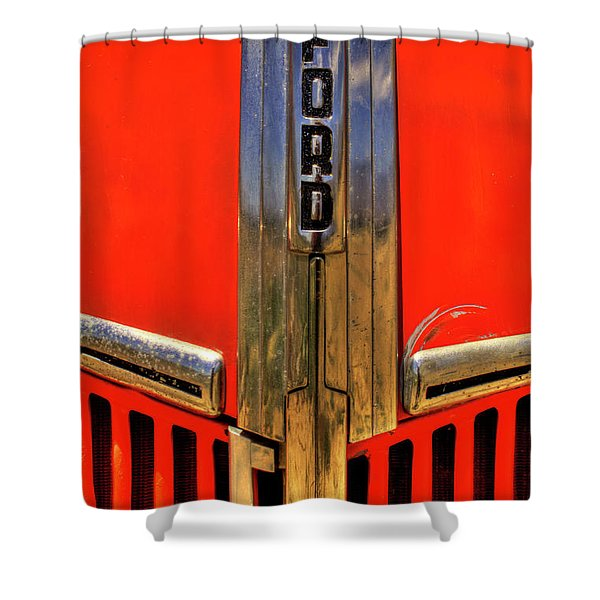 Manzanar Fire Truck Hood And Grill Detail Shower Curtain