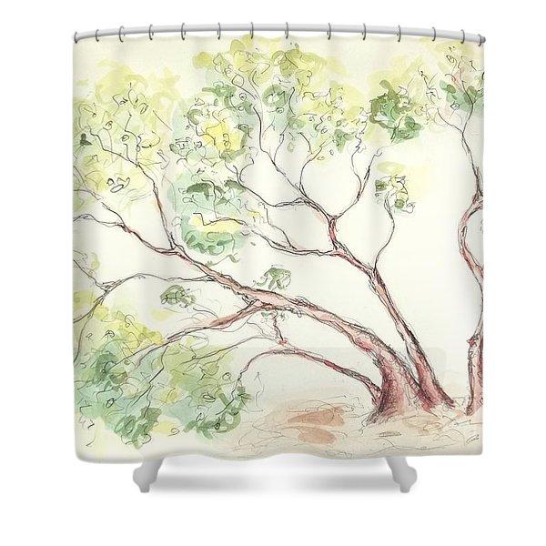 Manzanita Tree Shower Curtain