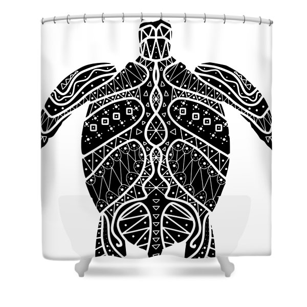 Maori Turtle Shower Curtain