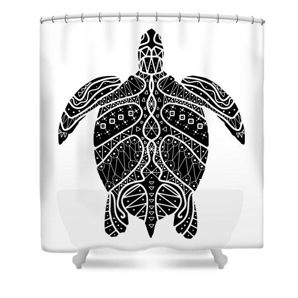 Maori Turtle Shower Curtain