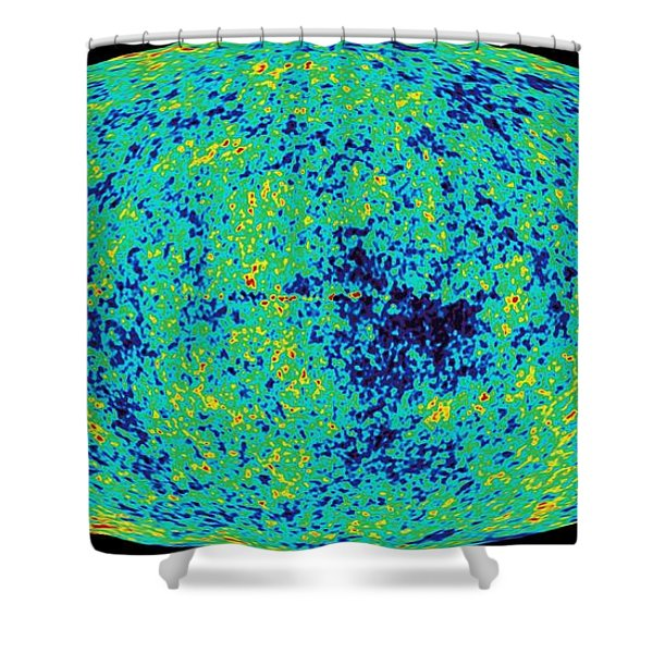 Map Microwave Background Shower Curtain