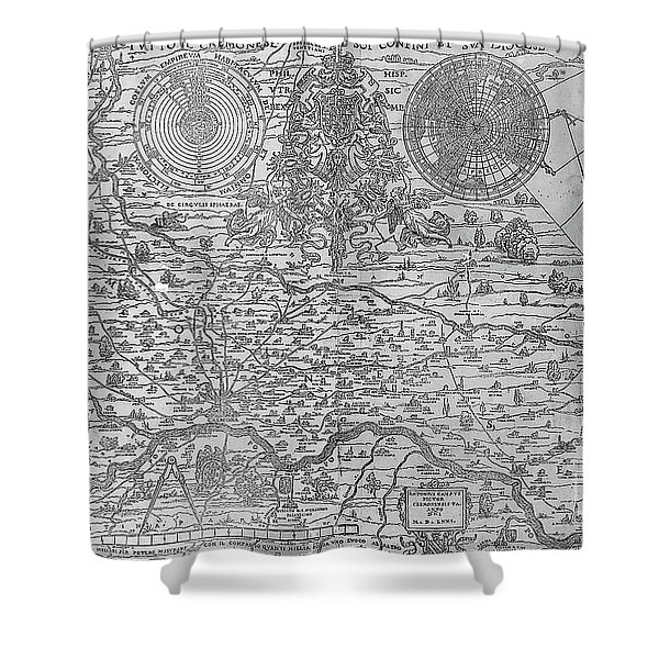 Map Of The Town And Diocese Of Cremona, 1571 Shower Curtain