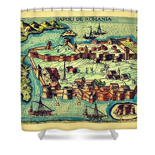 Map Seaport Shower Curtain