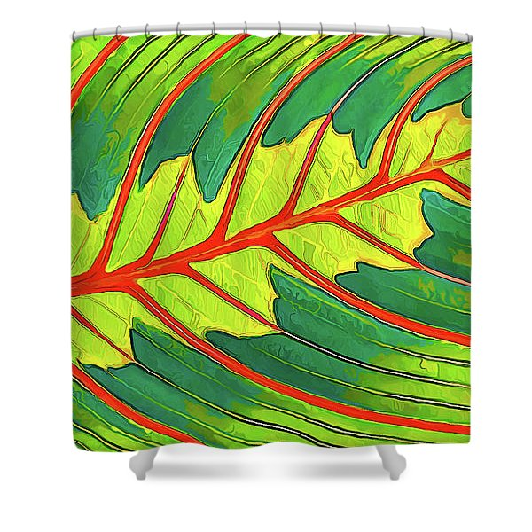 Maranta Red 2 Shower Curtain