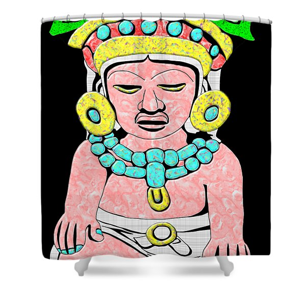 Marble Maya Shower Curtain