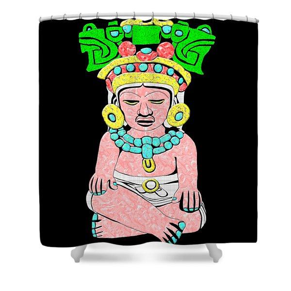 Marble Maya Shower Curtain