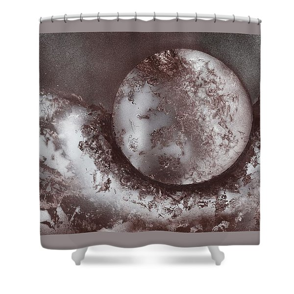 Marble Planet Shower Curtain