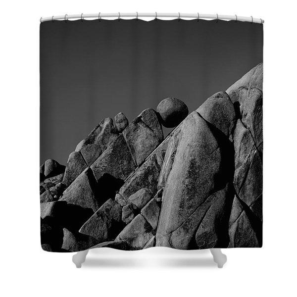 Marble Rock Formation B And W Version Shower Curtain
