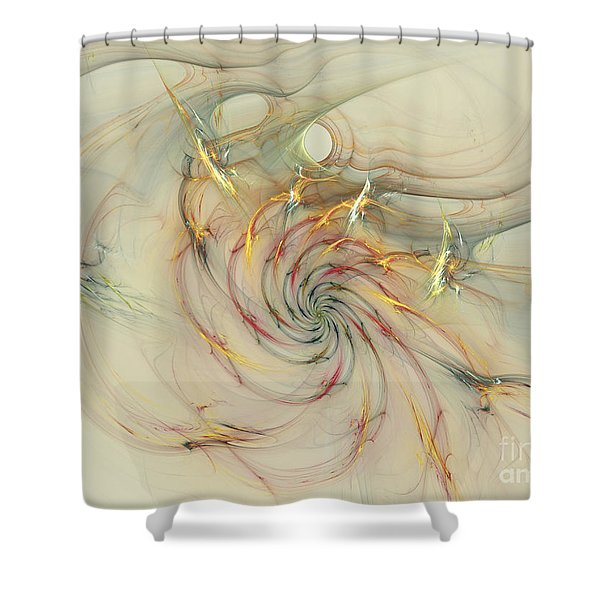 Marble Spiral Colors Shower Curtain