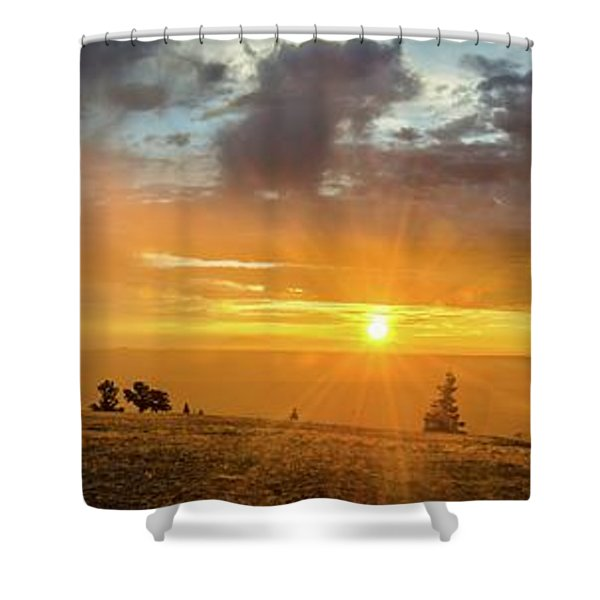 Marble View Sunrays Shower Curtain