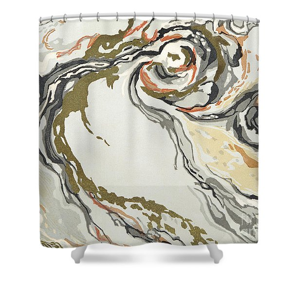 Marbled Pattern Shower Curtain