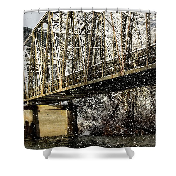 Marblemount Wa Bridge Shower Curtain