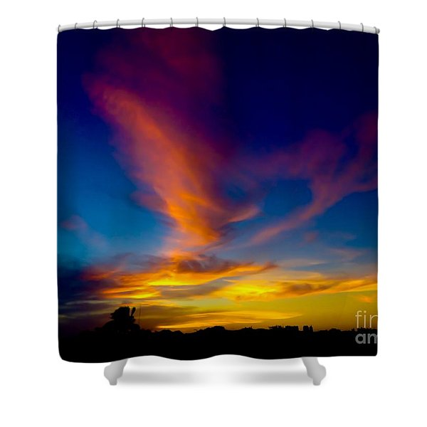 Sunset March 31, 2018 Shower Curtain