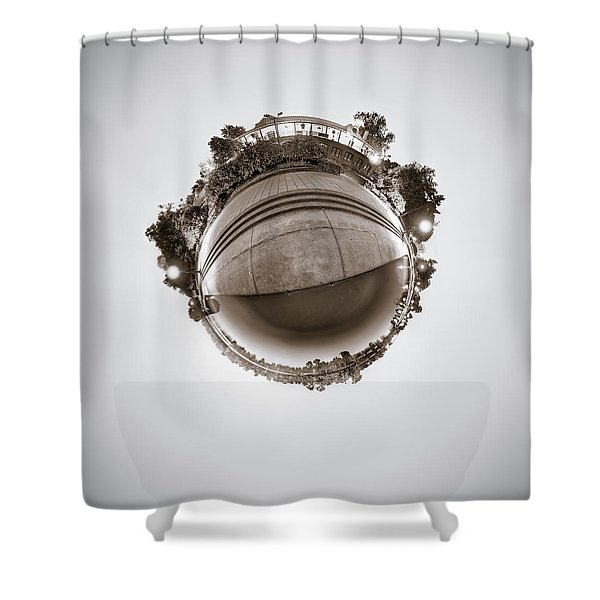 Marcy Casino - Tiny Planet Shower Curtain