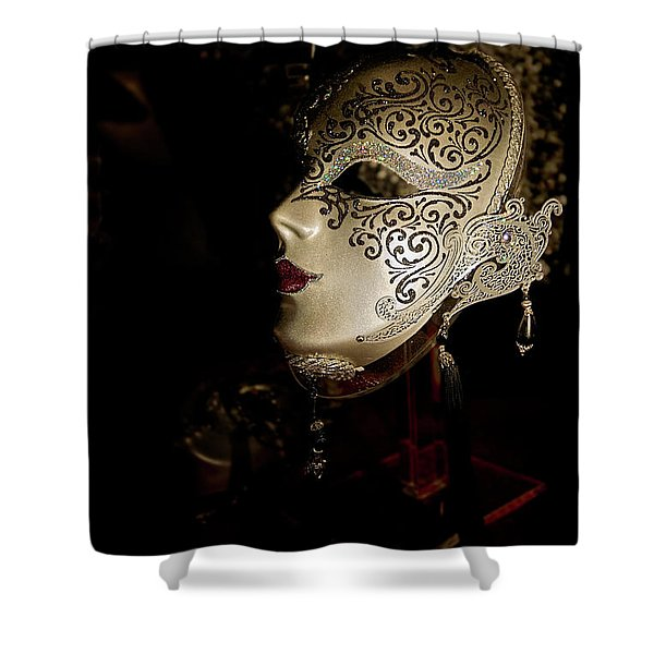 Mardi Gras Mask Shower Curtain by Christopher Holmes