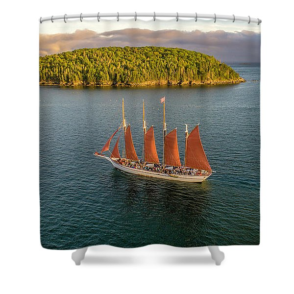 Margaret Todd Schooner Shower Curtain