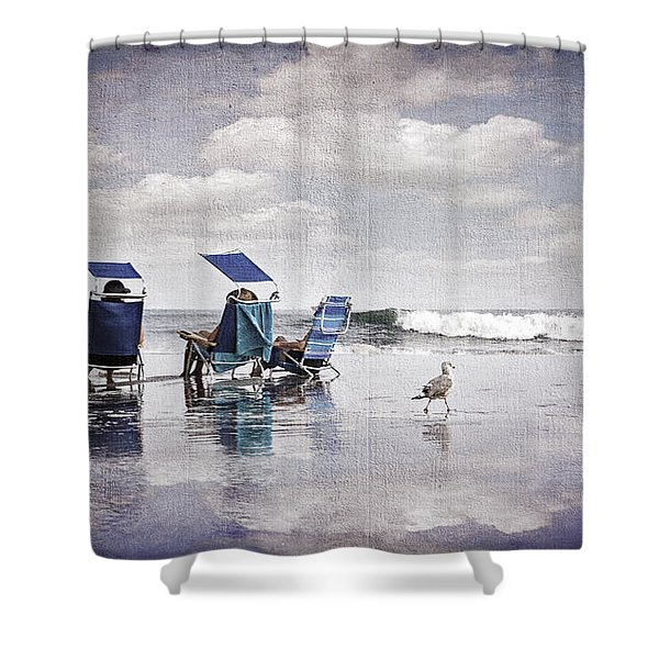 Margate Beach Relaxation Shower Curtain