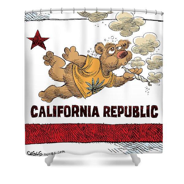 Marijuana Referendum In California Shower Curtain