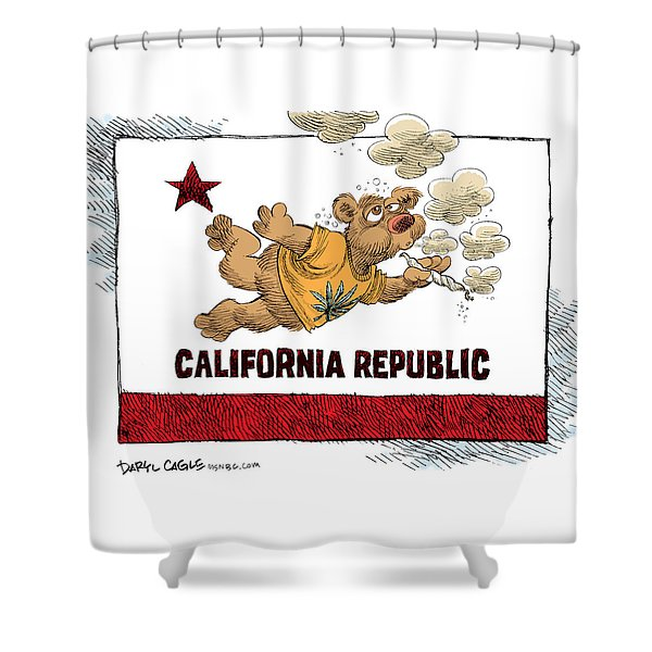 Marijuana Referendum In California Shower Curtain