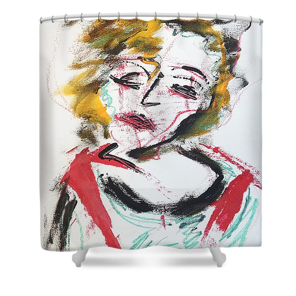 Marilyn Abstract Shower Curtain
