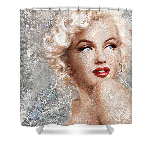 Marilyn Danella Ice Shower Curtain