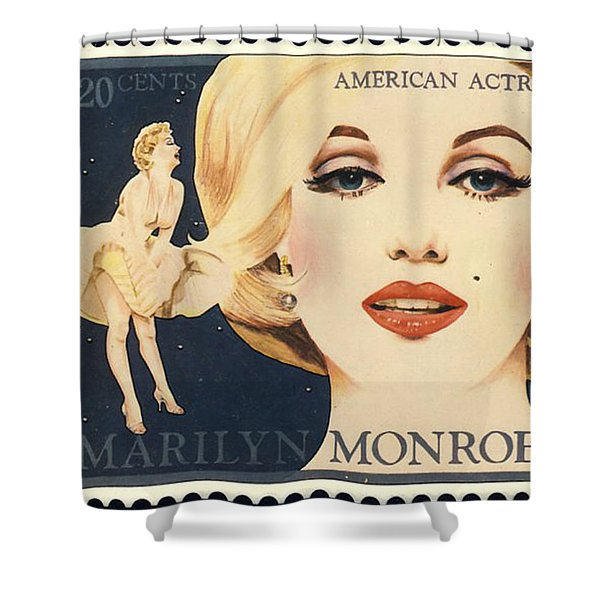 Marilyn Monroe Stamp Shower Curtain