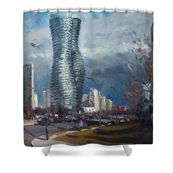 Marilyn Monroe Towers Mississauga Shower Curtain