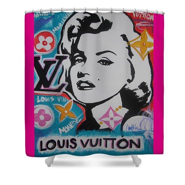 Marilyn Vuitton Shower Curtain