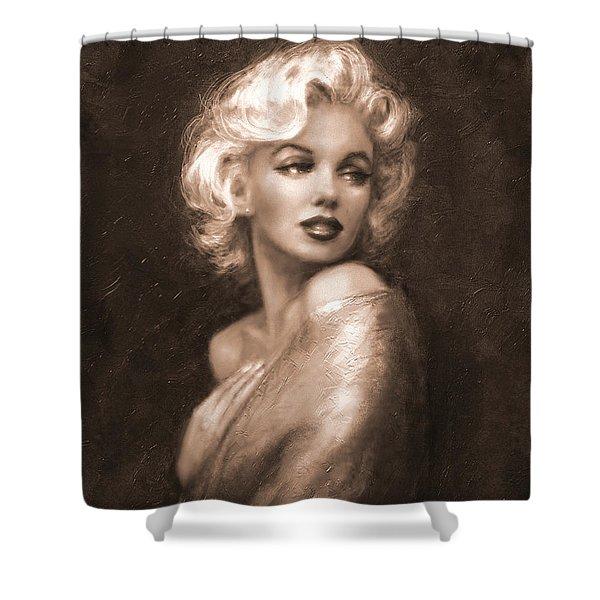 Marilyn Ww Sepia Shower Curtain