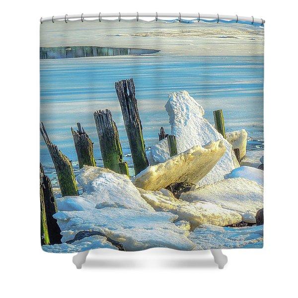 Marina On The Rocks Shower Curtain