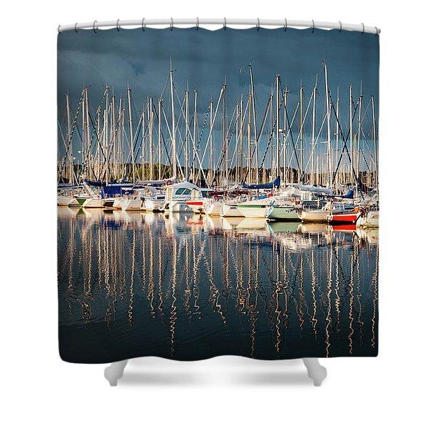 Marina Sunset 4 Shower Curtain