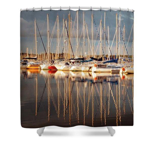 Marina Sunset 6 Shower Curtain