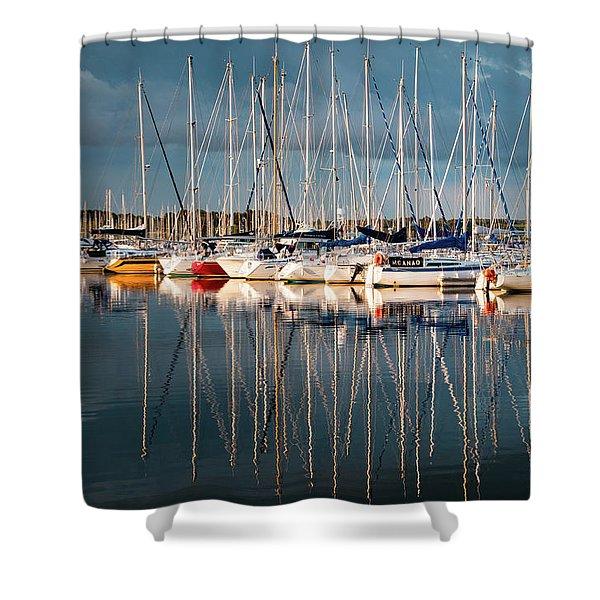 Marina Sunset 7 Shower Curtain