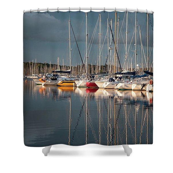 Marina Sunset 8 Shower Curtain