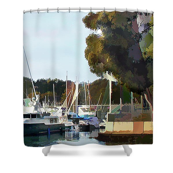 Marina Views Shower Curtain