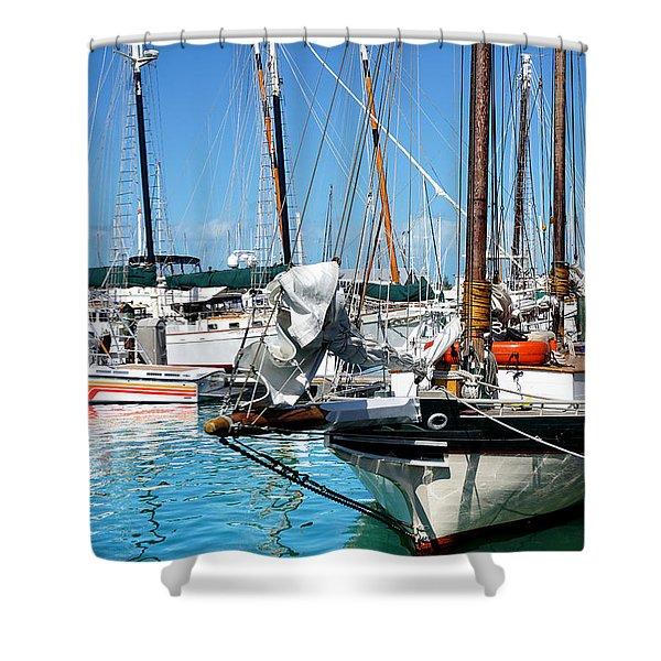 Marinas And Masts  Shower Curtain