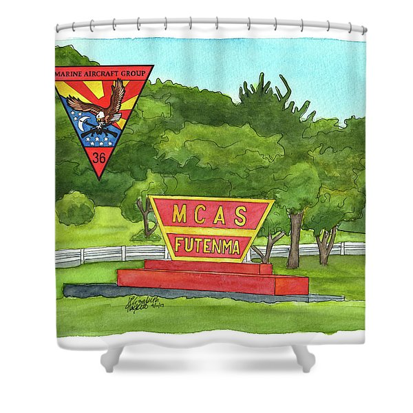 Marine Aircraft Group At Mcas Futenma Shower Curtain