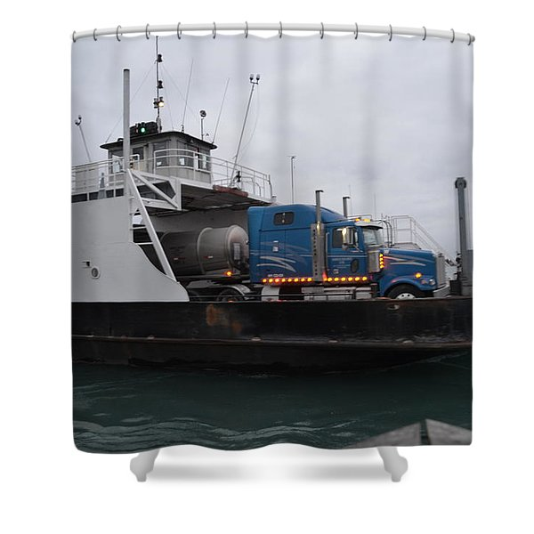 Marine City Mich Car Truck Ferry Shower Curtain