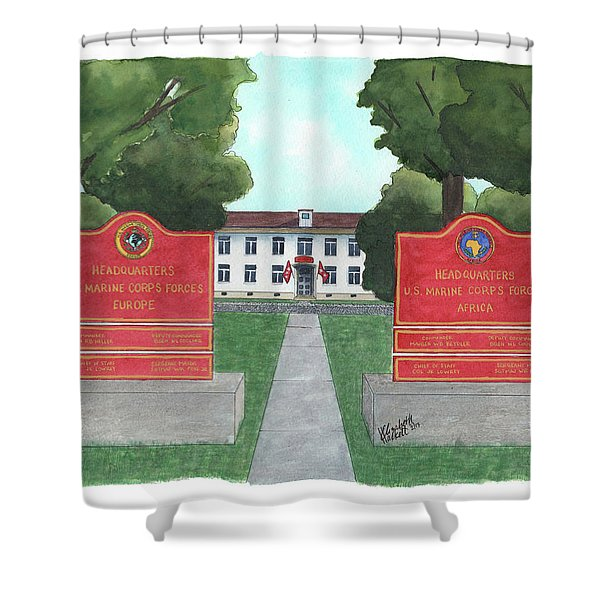 Marine Forces Europe And Marine Forces Africa Shower Curtain